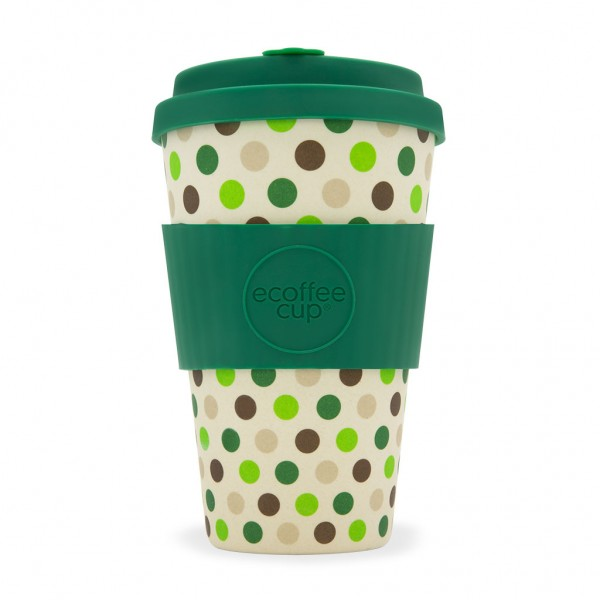 Kaffeebecher Green Polka