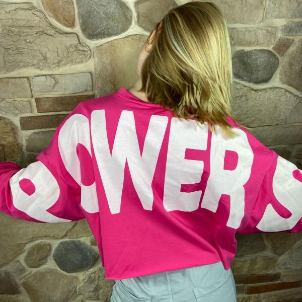 "Shirt ""Power"" pink, onesize"