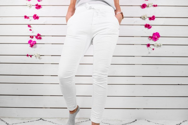 Melly & Co Stretch-Jeans in weiß