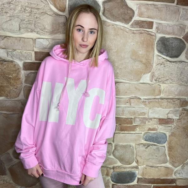 """Hoodie """"NYC"""" pink"""