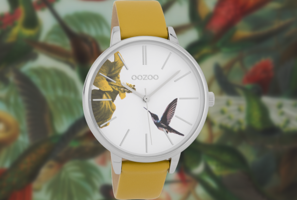 Oozoo Timepieces C9761 mustard yellow/white