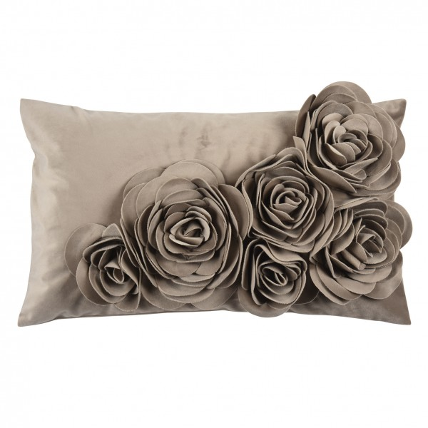 PAD Floral Kissen taupe
