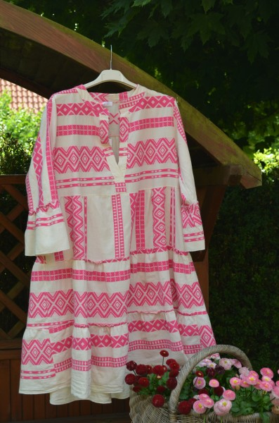 Tunikakleid Ethno pink