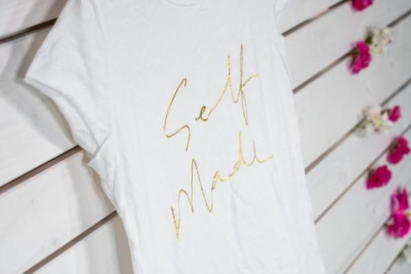 weißes T-Shirt Self Made