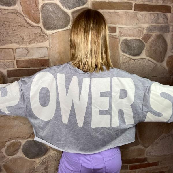 "Shirt ""Power"" grau, onesize"