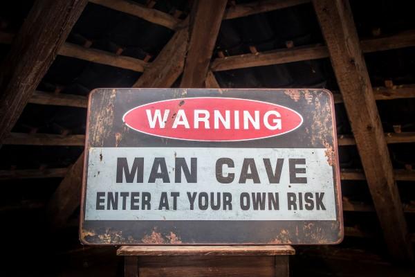 Metallschild Man Cave
