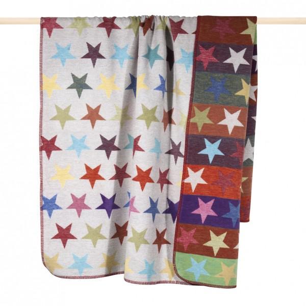 PAD Stars Kuscheldecke multicolor