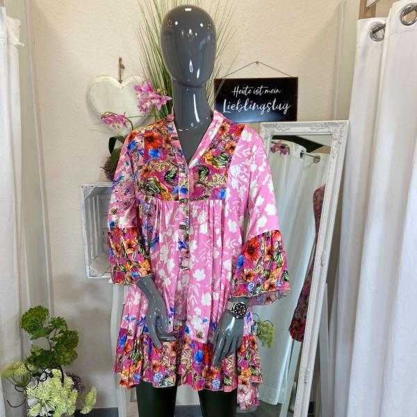 Flower Tunika, pink, onesize