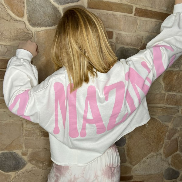 """Shirt """"Amazing"""" creme, onesize"""