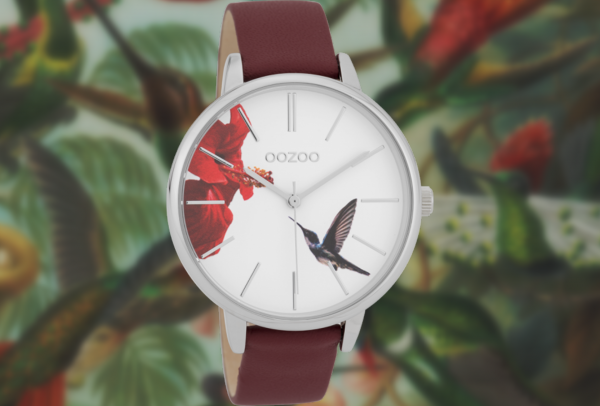 Oozoo Timepieces C9762 burgundy/white