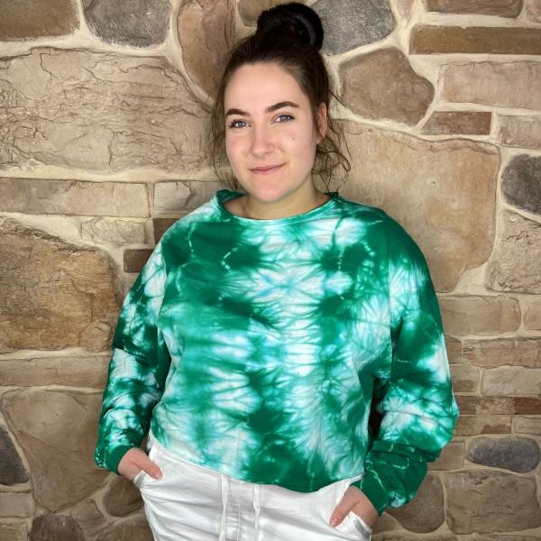 Shirt, Batik, grün, onesize