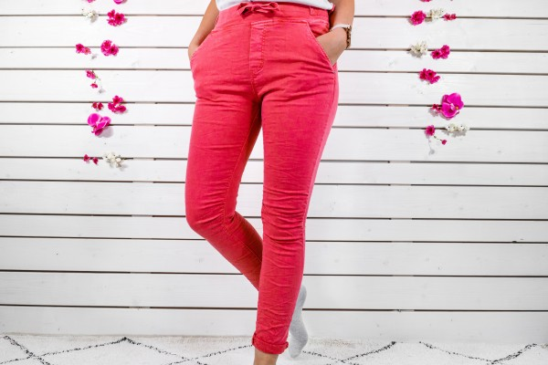 Melly & Co Stretch-Jeans in rot