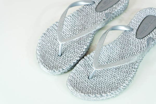 Ilse Jacobsen Flip Flops silber