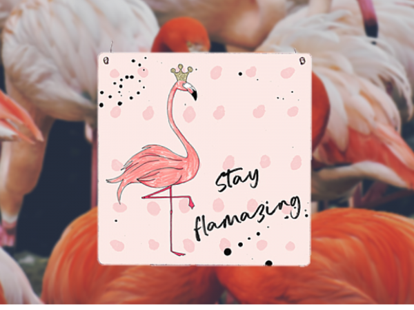 "Holzschild ""Stay Flamazing"""