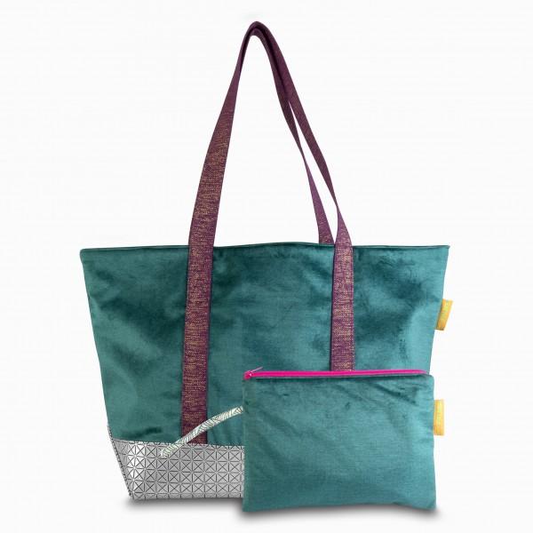 Tasche Green Velvet